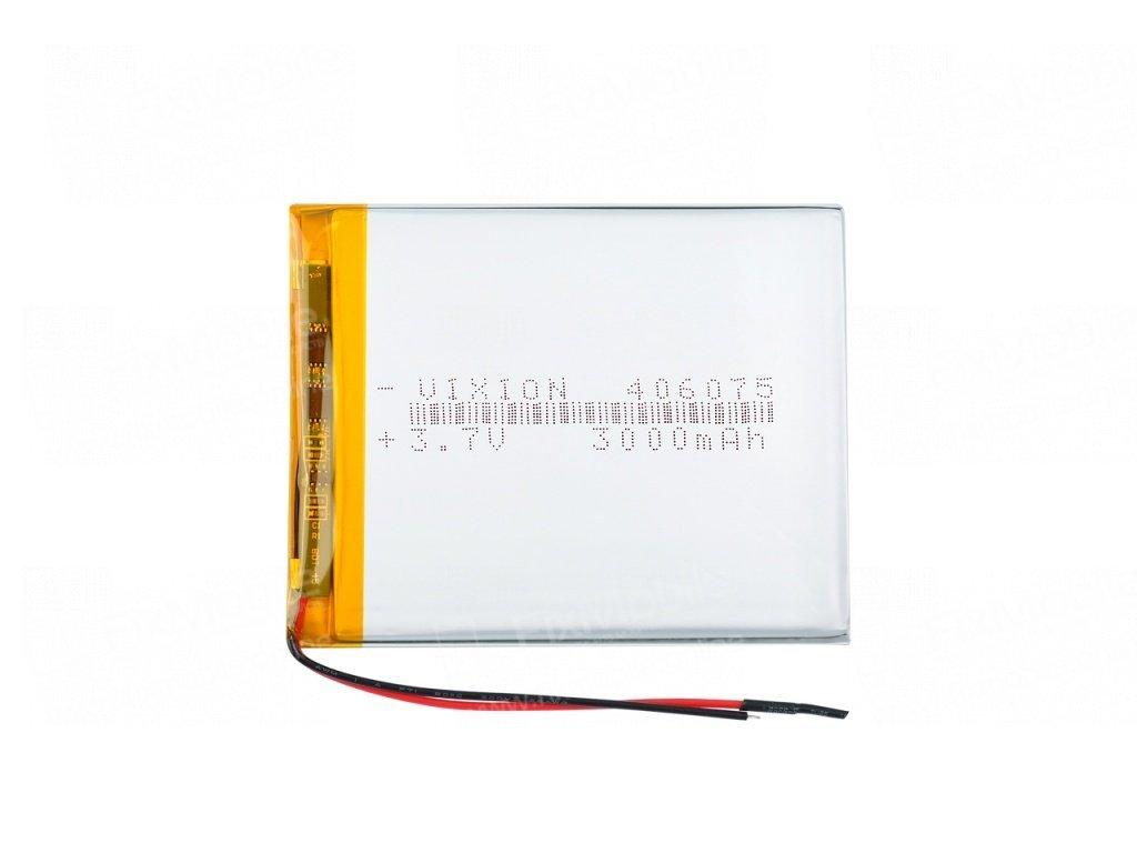 Аккумуляторная батарея универсальная 406075p 3,7v 3000 mAh 4*60*75 мм
