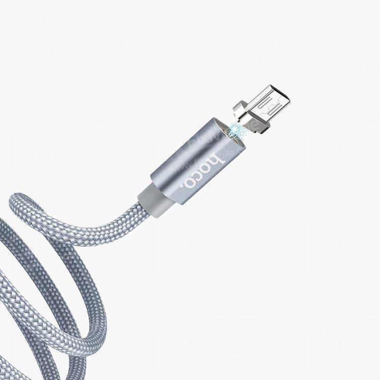 Кабель HOCO U40A магнитный (USB - micro-USB) серый