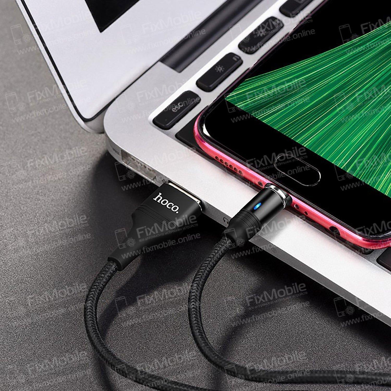 Кабель HOCO U76 магнитный (USB - micro-USB) черный